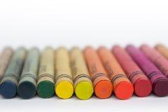 Crayons de couleur/vieux plan rapproché de crayons de cire Photo libre de droits