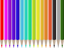 Crayons de couleurs Images stock