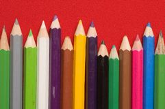Crayons de couleurs Photos libres de droits
