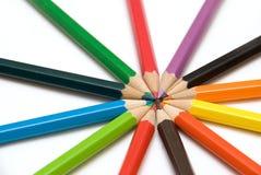 Crayons de crayon Photo libre de droits