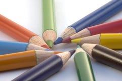 Crayons de crayon Photos libres de droits