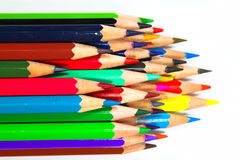 Crayons de crayon de coloration photo stock