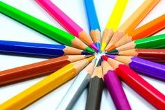 Crayons de crayon de coloration photographie stock libre de droits