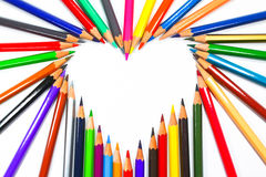 Crayons de crayon de coloration Images libres de droits