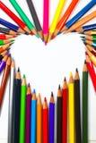 Crayons de crayon de coloration image libre de droits