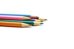 Crayons de crayon sur le fond blanc Images libres de droits