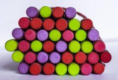 Crayons de gommes Photographie stock