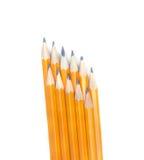 Crayons de graphite disposés dans deux couches Images stock