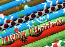 Crayons de Noël Image libre de droits
