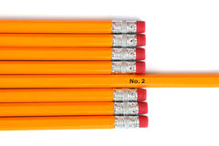 2 crayons de numéro Photo libre de droits