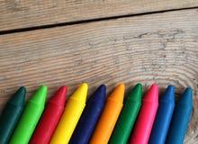 Crayons de pastel d'huile Photos libres de droits