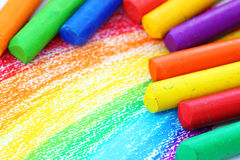 Crayons de pastel de pétrole Images libres de droits