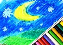 Crayons de pastel de pétrole Photo libre de droits