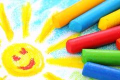 Crayons de pastel de pétrole Image libre de droits