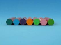 Crayons de pastels de pétrole Photos stock