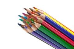 Crayons de plan rapproché Photo stock