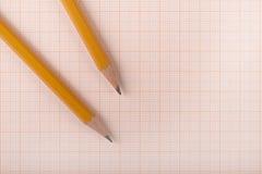 Crayons de sorcière d'exposé technique Images libres de droits