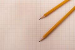 Crayons de sorcière d'exposé technique Photos stock