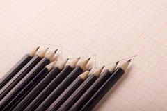 Crayons de sorcière d'exposé technique Photo stock