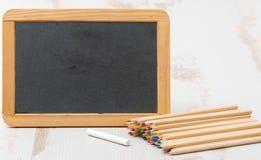 Crayons de tableau et de coloration Images libres de droits