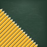 Crayons de tableau noir Photo libre de droits