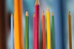 Crayons debout Photos stock
