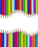 Crayons en bois illustration de vecteur