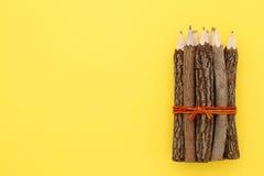 Crayons en bois Photographie stock