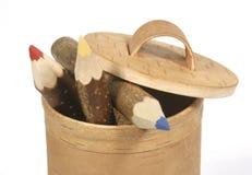 Crayons en bois Images stock