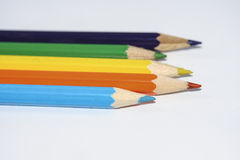 Crayons en bois colorés Image stock