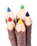 Crayons en bois de couleur Images libres de droits