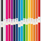 Crayons en bois de couleur avec des textes Illustration Stock