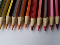 Crayons en bois pointus Images libres de droits