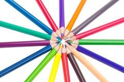 Crayons en cercle Photos libres de droits