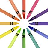 Crayons en cercle Photo stock