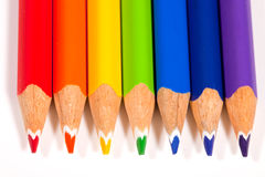 Crayons en couleurs d'arc-en-ciel Photos libres de droits