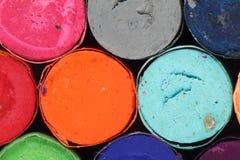 Crayons en pastel Images libres de droits