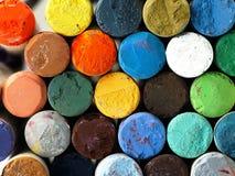 Crayons en pastel secs colorés étroitement Images stock