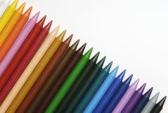 Crayons en plastique Photo libre de droits