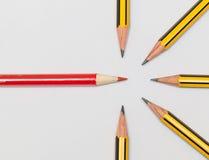 Crayons ensemble Images libres de droits