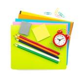 Crayons and eraser Stock Photo