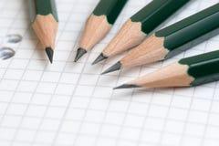 Crayons et cahier Images libres de droits