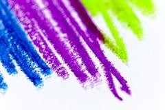 Crayons et dessins en pastel Photographie stock libre de droits