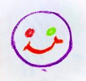 Crayons et dessins en pastel Images stock