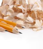 Crayons et raser image stock