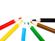 crayons fördelning arkivbilder