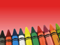 Crayons on a fading background Royalty Free Stock Photography