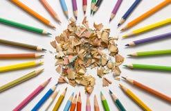 crayons Fin-moulés et neufs Image stock