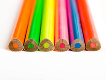 Crayons fluorescents Photos stock