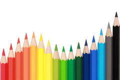 Crayons forming a wave Stock Image
